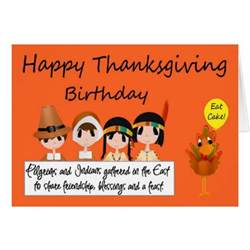 happy birthday on thanksgiving greeting card zazzle