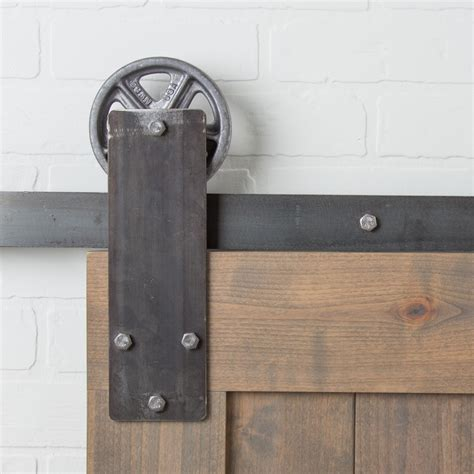 Barn Door Hinges Hardware Aspen Flat Track Hardware Kit Barndoorhardware