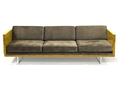 olive couch milo baughman olive burl sofa ca 1970 artsy