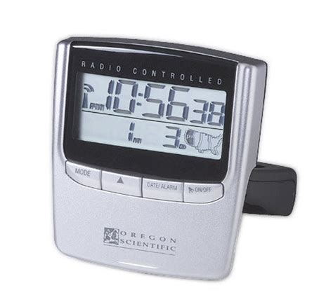 oregon scientific rm826 exactset travel alarm clock qvc