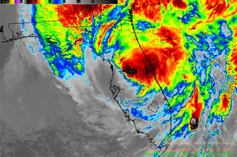 imagenes satelitales noaa sudamerica irma over florida as seen by suomi npp and goes 16 171 cimss