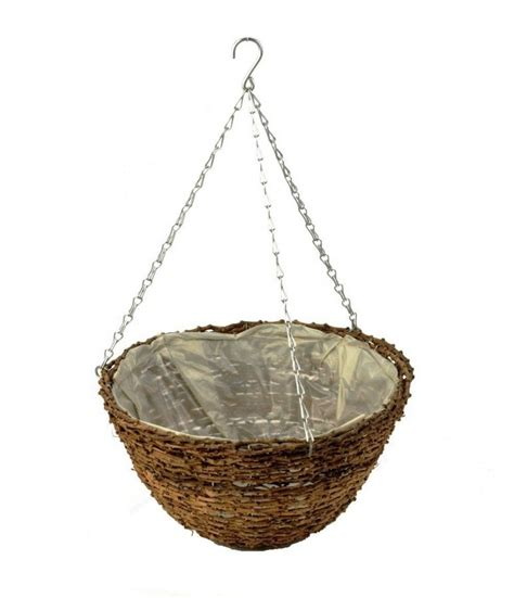 Hanging Planter Basket by Rattan Hanging Basket Planter 40cm 163 3 99