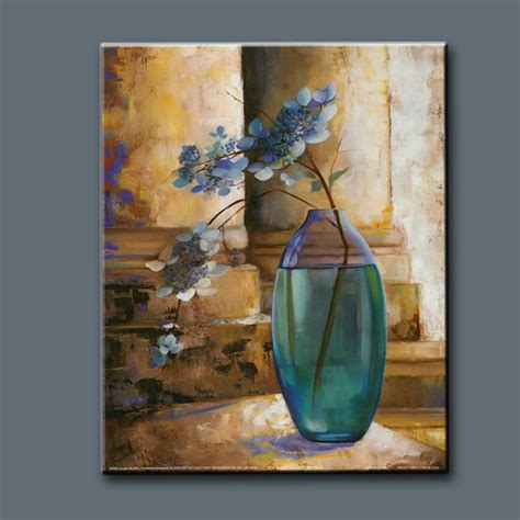 acrylic painting glass vase still glass painting pictures flower vase painting