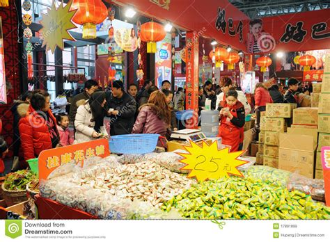 new year shopping image new year shopping in chengdu editorial stock image