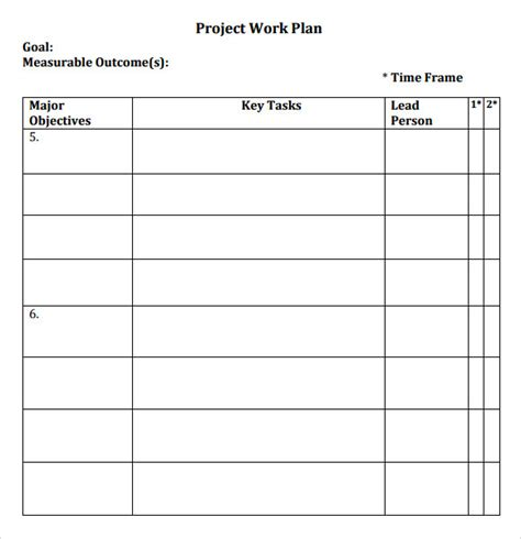 how to create a work plan template sle work plan 11 documents in pdf word