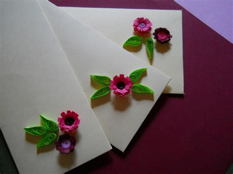 How To Make Quilled Paper Flowers - simple flower and leaf quilling without a quilling tool 4