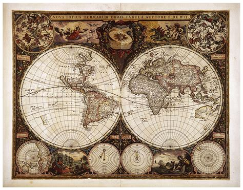 vintage world map wall mural your decal shop nz