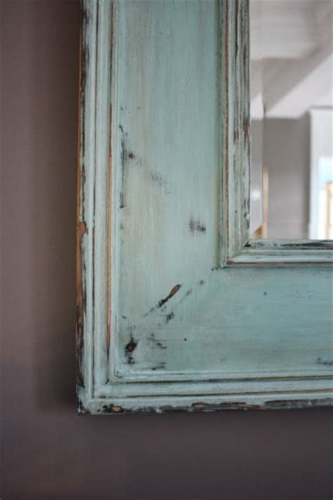 painting chalkboard on mirror how to distress a mirror using chalk paint this is a