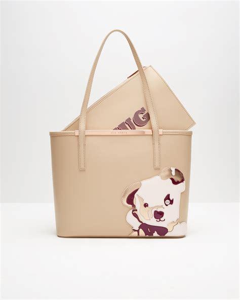 Bag With Teddy lyst ted baker teddy shopper bag in brown