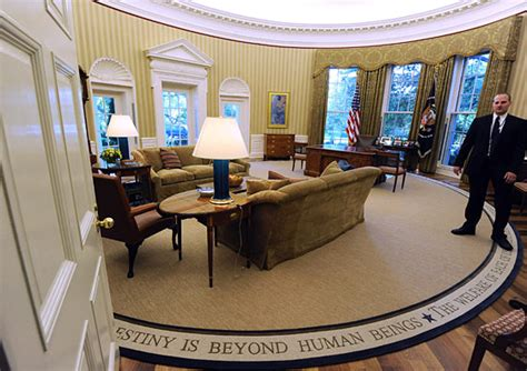 obama oval office rug president obama installs appropriately less optimistic rug in the oval office