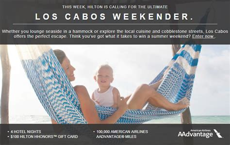 Hilton Sweepstakes - los cabos weekender sweepstakes by hilton milesgeek