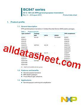 smd bc547 transistor datasheet bc547 datasheet pdf nxp semiconductors