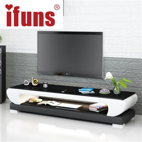 latest design modern corner tv cabinet led tv wall unit aliexpress com buy ifuns new design modern white black