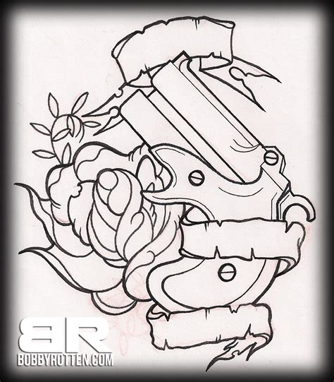 tattoo outlines designs traditional bobbyrotten