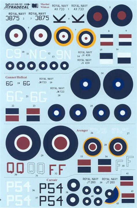 Xtra Decals 1/48 YANKS WITH ROUNDELS U.S. Aircraft Fleet ... Xtra Decals