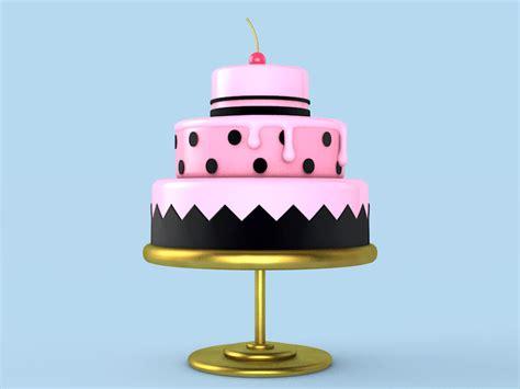 Breathing cake^^   gif, 3D, lowpoly   v5mt   ello