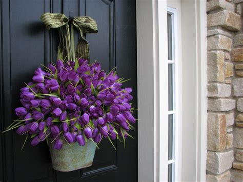 spring decoration tulips easter tulips spring door decor spring by twoinspireyou