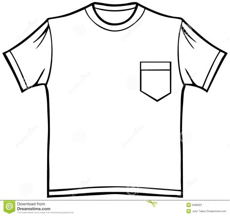 t shirt template with pocket t shirt with pocket stock image image 9488581