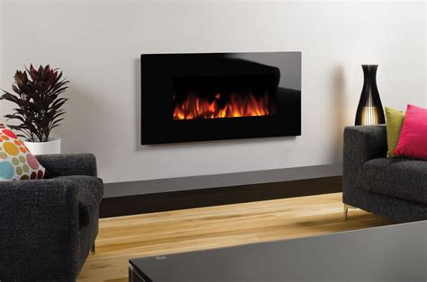 Fireplace Stone studio electric glass wall mounted fires gazco fires