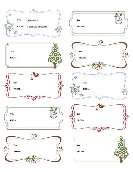 gift labels gift certificate template free template for