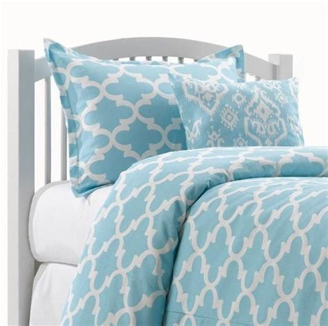 sky blue trellis bedding set liz and roo