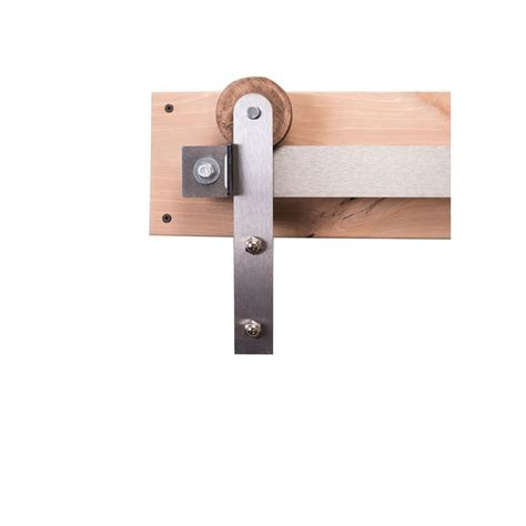 rustica hardware 84 in brushed steel sliding barn door