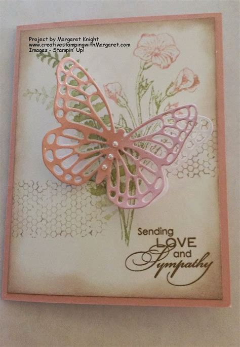 Handmade Cards Stin Up - sympathy card using stin up butterfly basics st