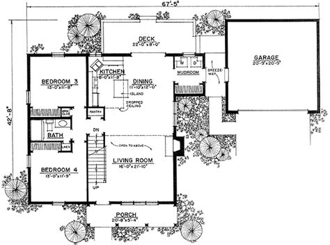 Floor Plans With Breezeway | beckoning breezeway 43011pf architectural designs