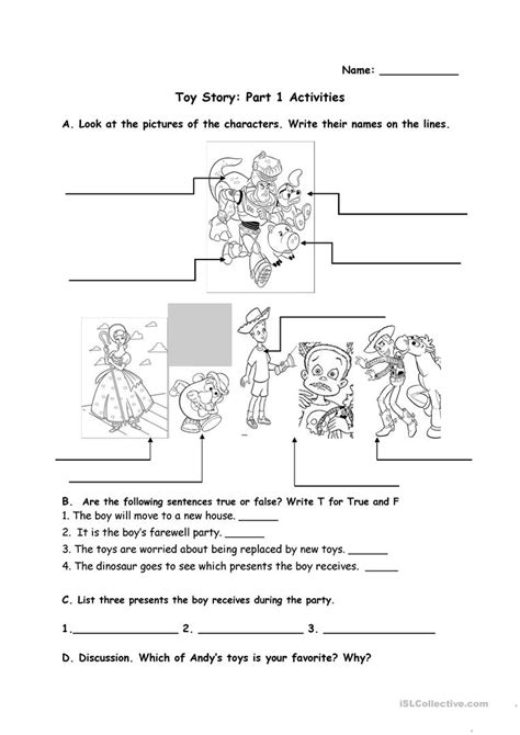 toy story printable activity sheets toy story activities worksheet free esl printable
