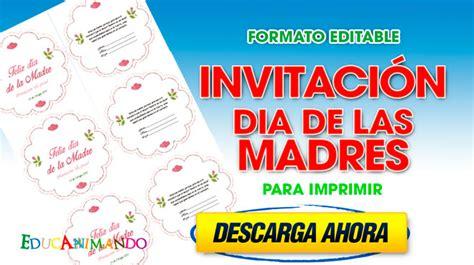 tarjeta de invitacion para el dia de los jardines invitaciones dia de las madres para personalizar