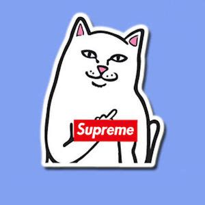Kaos Rip N Dip X Supreme supreme ripndip vinyl dope sticker decal skateboard laptop