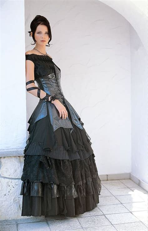 nujazzspirit gothic wedding theme with dress and