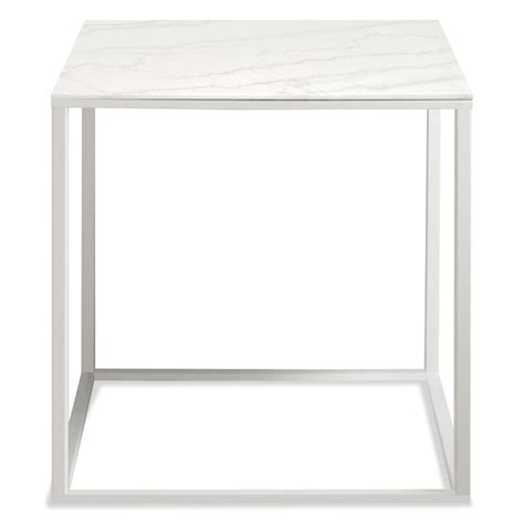 minimalista side table square side table dot - White Top Side Table