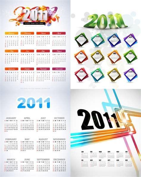 graphic design calendar templates beautiful 2011 calendar template vector free vector in