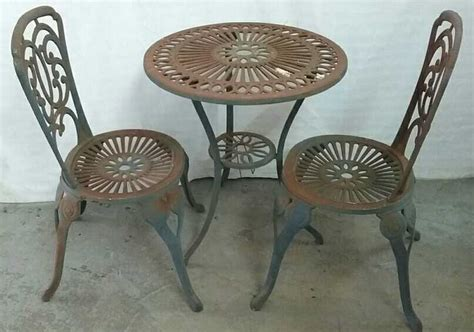 cast iron table and chairs cast iron garden table and chairs
