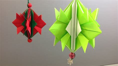 Easy Origami Decorations - easy origami ornament decoration