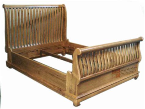 solid teak wooden sleigh bed frames antique