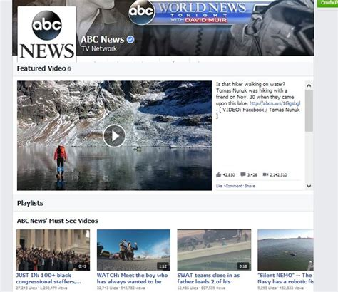 technology and science news abc news facebook testing youtube like video section for pages