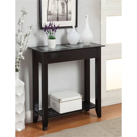 Slim Hallway Table Convenience Concepts American Heritage Table Finishes Walmart