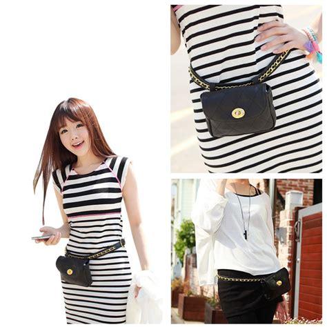 Tas Waist Bag Dc tas pinggang wanita luxury waist bag 1534 black jakartanotebook