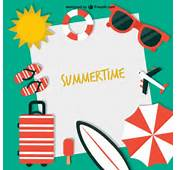 Summertime Background Vector  Free Download