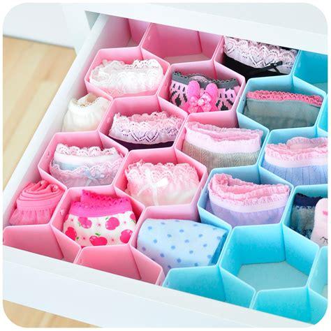 underwear organizer 8pcs set honeycomb plastic drawer organizer underwear