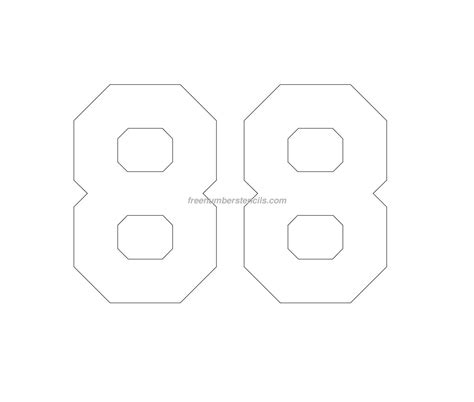 templates printable free hockey 88 number stencil freenumberstencils