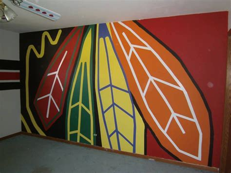 chicago blackhawks colors chicago blackhawks painted wall logo nhl
