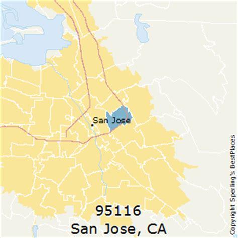san jose map of zip codes best places to live in san jose zip 95116 california