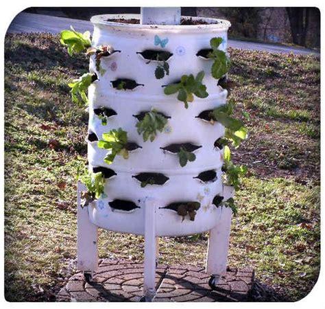 Vertical Barrel Garden Diy Vertical Garden Planter From A 55 Gallon Plastic