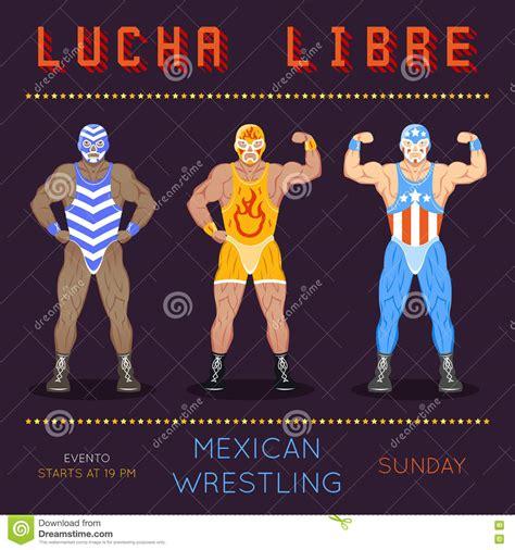 Lucha Libre Poster Vintage Wrestling Placard Template Stock Vector Image 73265281 Lucha Libre Poster Template
