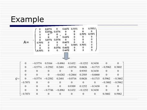 qr decomposition of a matrix bing images