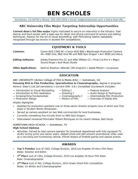 Internship On Resume by Internship Resume Sle