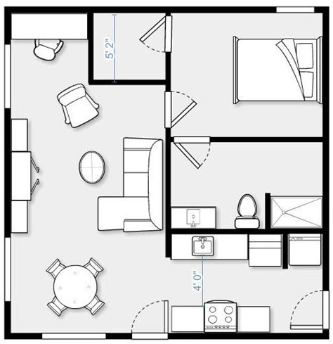 convert garage to apartment floor plans 24 x 24 garage conversion 576 sf complete kitchen with